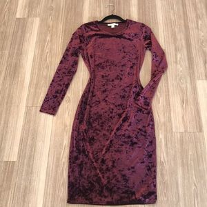Micheal Kors red velvet dress